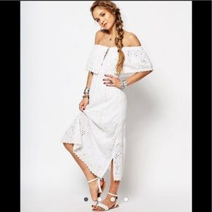 Free People Most Beautiful Midi Dress Off Shoulder